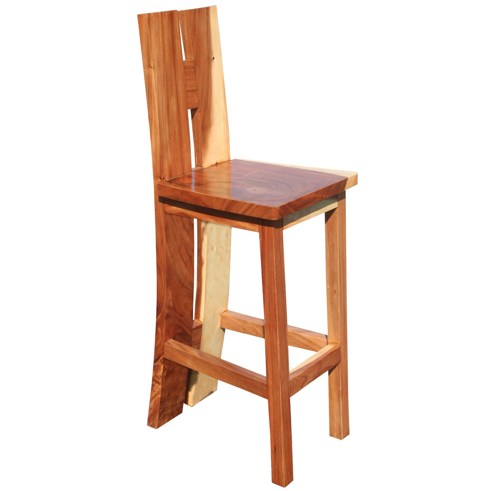 Chic Teak Suar Rio Black Bar Stool