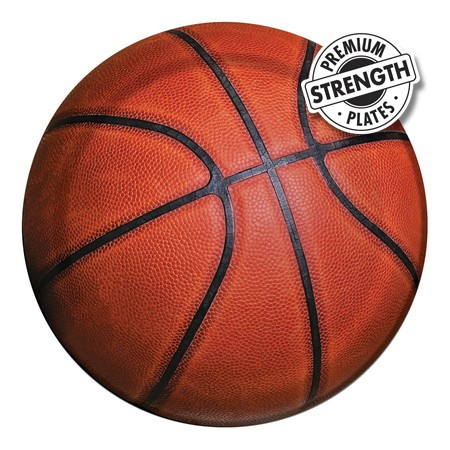 (Price/Case)Creative Converting 417964 Sports Fanatic Basketball Luncheon Plates (Case of 96)