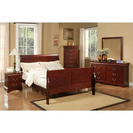 Alpine Furniture Louis Philippe Ii 4 Piece Bedroom Set