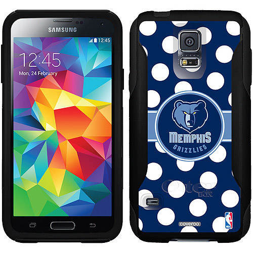Memphis Grizzlies Polka Dots Design on OtterBox Commuter Series Case for Samsung Galaxy S5
