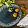 Better Homes & Gardens Teal Medallion Oval Serve Platter
