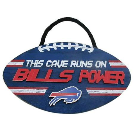 Forever Collectibles 9279702476 Buffalo Bills Sign Wood Football Power Design - image 1 de 1