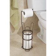InterDesign York Lyra Toilet Paper Roll Holder with Stand