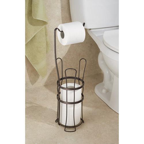 InterDesign York Lyra Toilet Paper Roll Holder with Stand