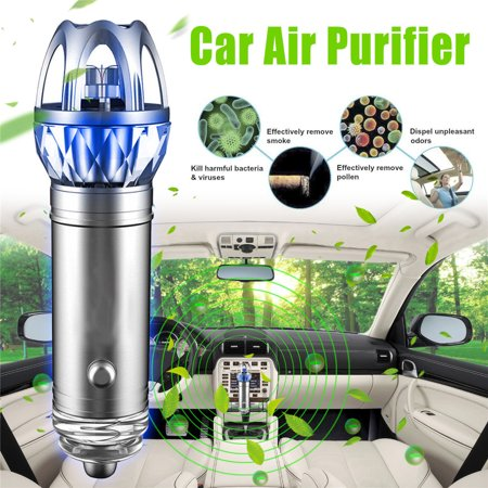 MECO Mini Auto Car Fresh Air Cleaner, Air Ionic Purifier, Oxygen Bark, Ozone Ionizer Cleaner, Cigarette Smoke Odor Smell