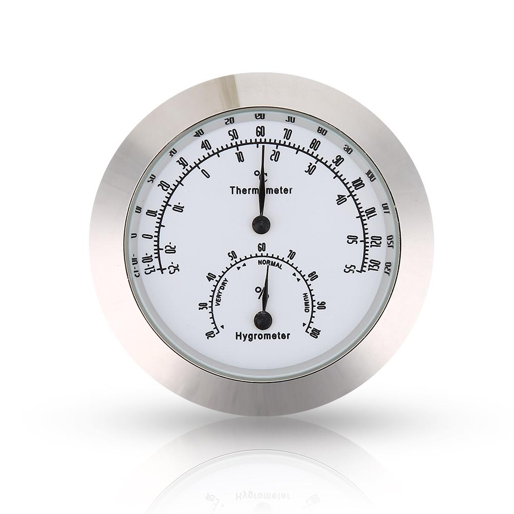 Round Thermometer Hygrometer Humidity Temperature Meter for Violin Guitar Case Instrument Care Round Humidity Meter Round Temperature Meter