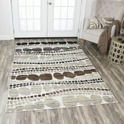 Rizzy Home XI6933 Ivory 8' x 10' Power-Loomed Area Rug