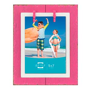 Prinz 5x7 Beach Brights Distressed Frame (Pink)