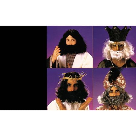 Biblical Beard Wig Adult Halloween Accessory - Grey Wig And Beard
