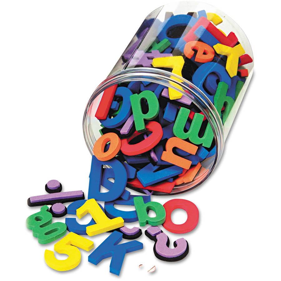Chenille Kraft Wonderfoam Magnetic Alphabet Letters, Assorted Colors, 105pk