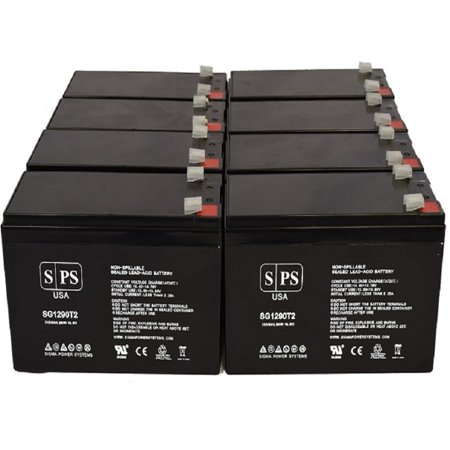 SPS Brand 12V 9Ah Replacement Battery for MGE Pulsar Evolution 3000 Tower (Terminal T2) (8 Pack)