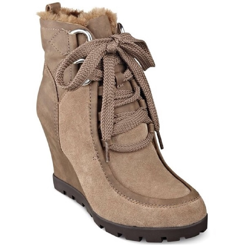 Guess Lanni Lace Up Suede Ankle Boots