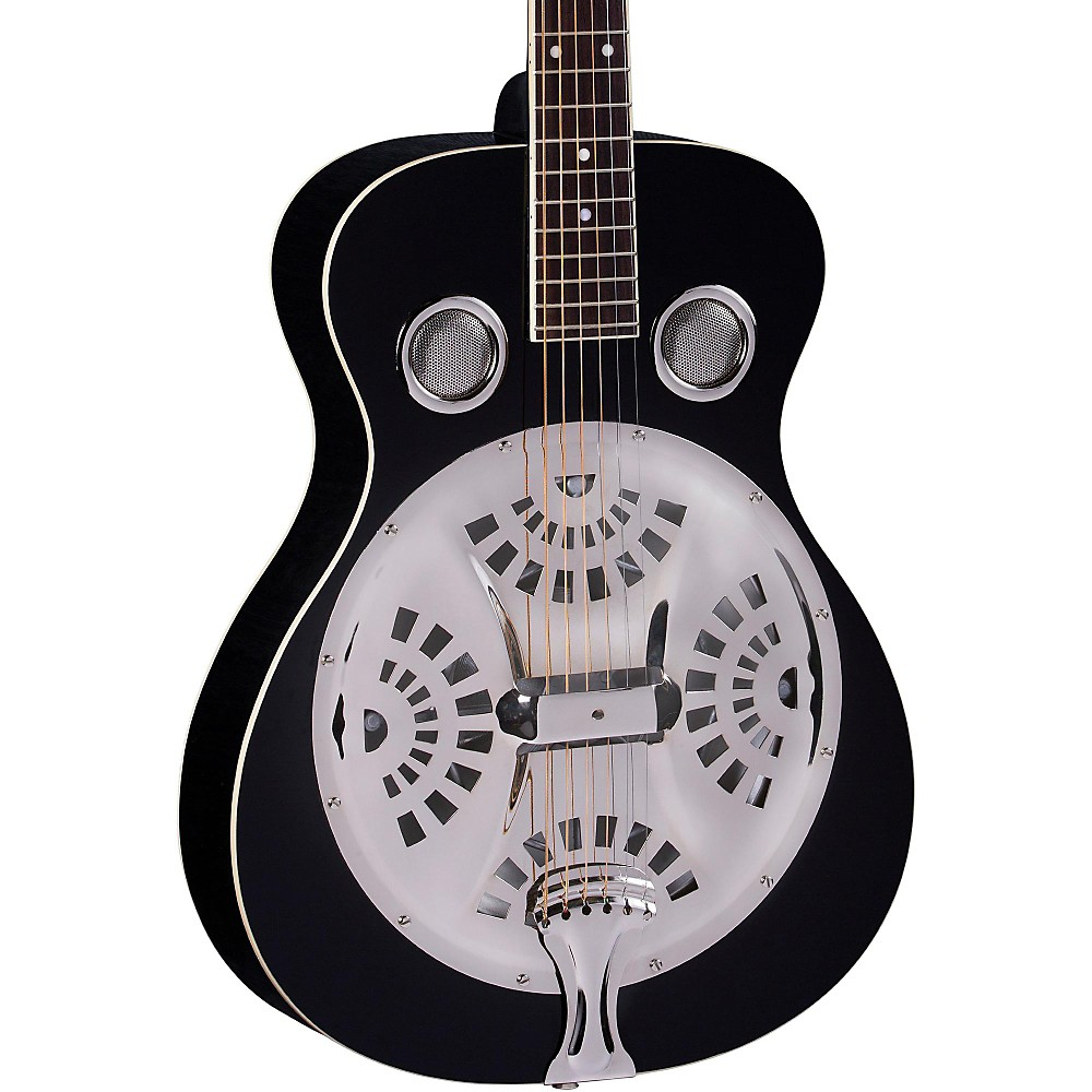 Regal RD-40 Round Neck Resonator Guitar Black by Regal