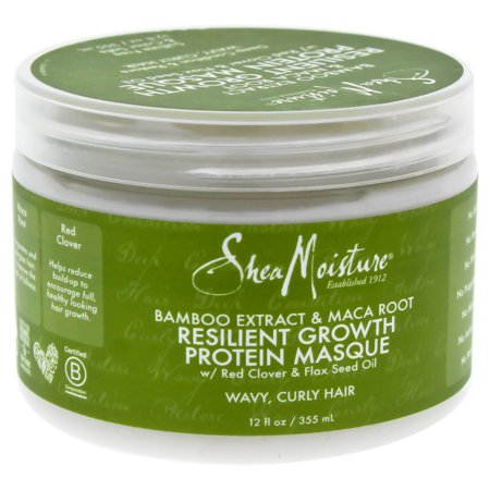 Shea Moisture Bamboo Extract & Maca Root Resilient Growth Protein Masque - 12 oz Masque