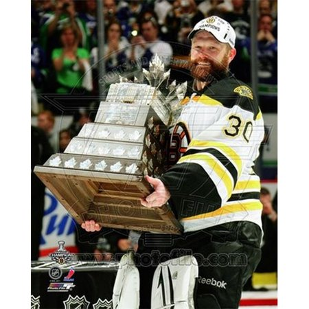 Tim Thomas with the Conn Smythe Trophy Game 7 of the 2011 NHL Stanley Cup Finals- 44 Sports Photo - 8 x (Conn Smythe Trophy)