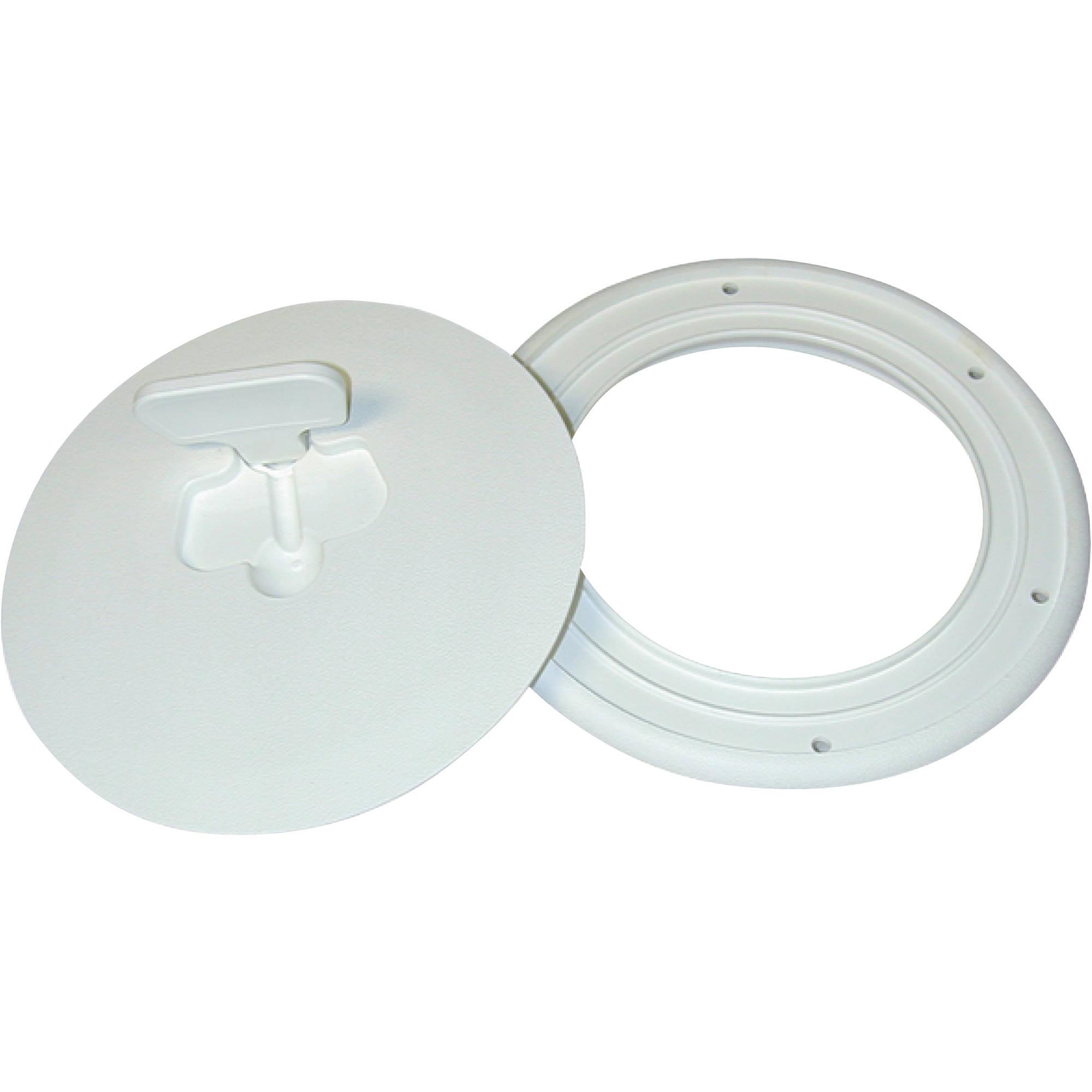 "T-H Marine Quick Release Deck Plate 6"" Diameter, Polar White by T-H Marine Supplies"