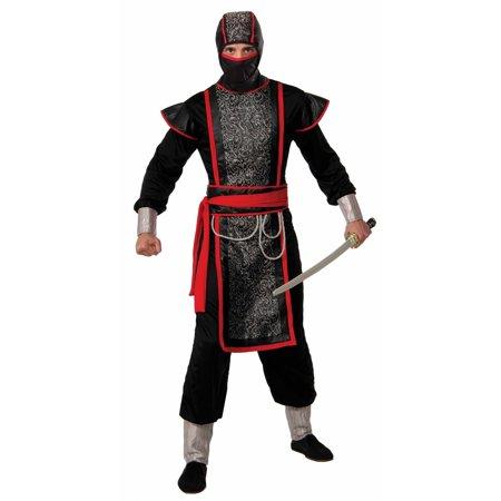 Mens Ninja Master With Hood Halloween Costume