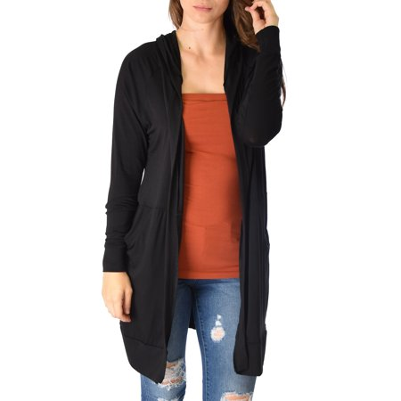 Lyss Loo Long-Line Hooded Cardigan With Pockets - Walmart.com