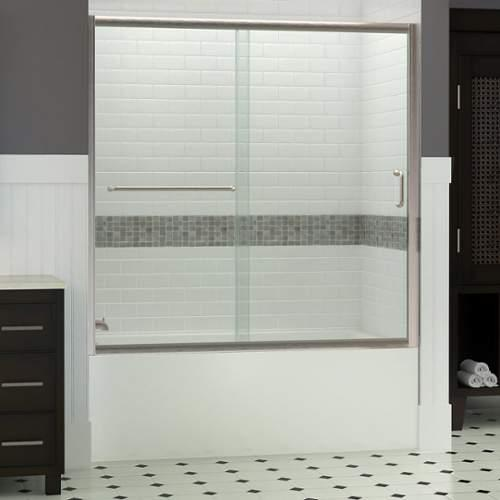 Dreamline  SHDR-0960580  Shower Doors  Infinity-Z  Showers  Sliding  ;Brushed Nickel
