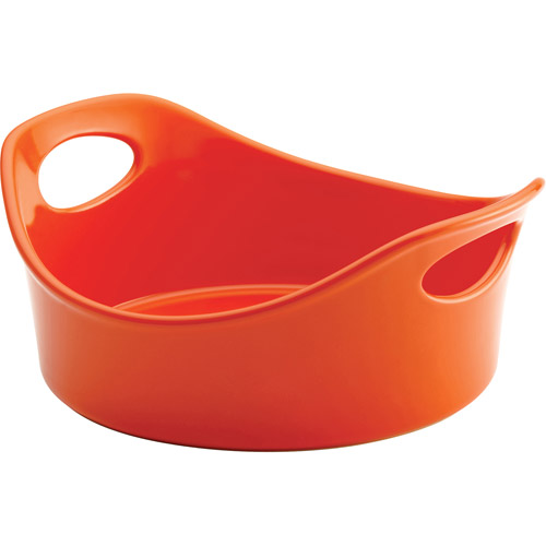 Rachael Ray Stoneware 1-1/2-Quart Round Baker, Orange