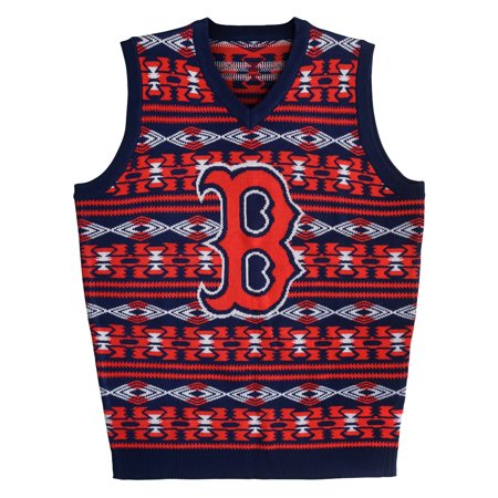 "Boston Red Sox MLB Mens ""Aztec Print"" Ugly Sweater Vest by"