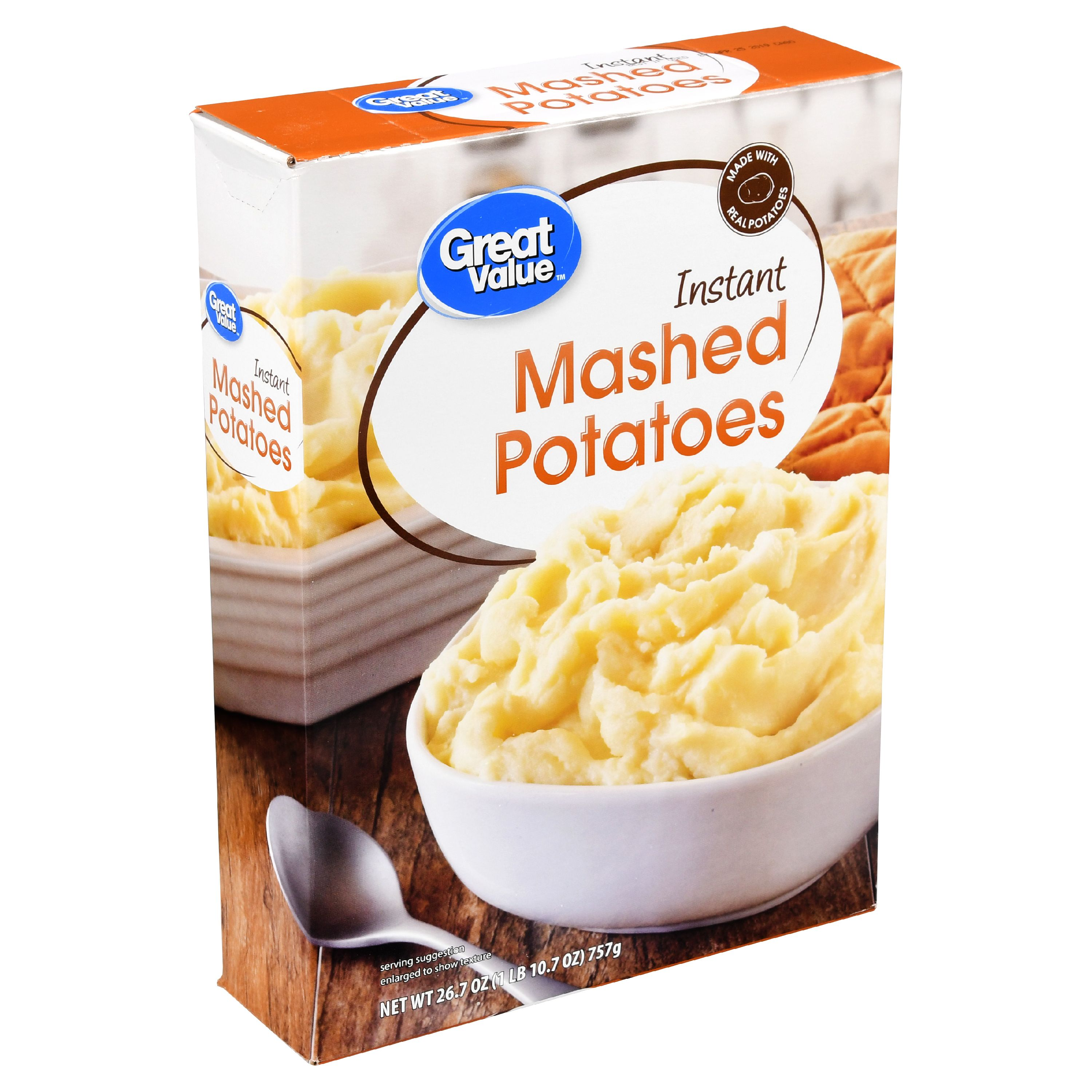 Great Value Instant Mashed Potatoes, 26.7 oz