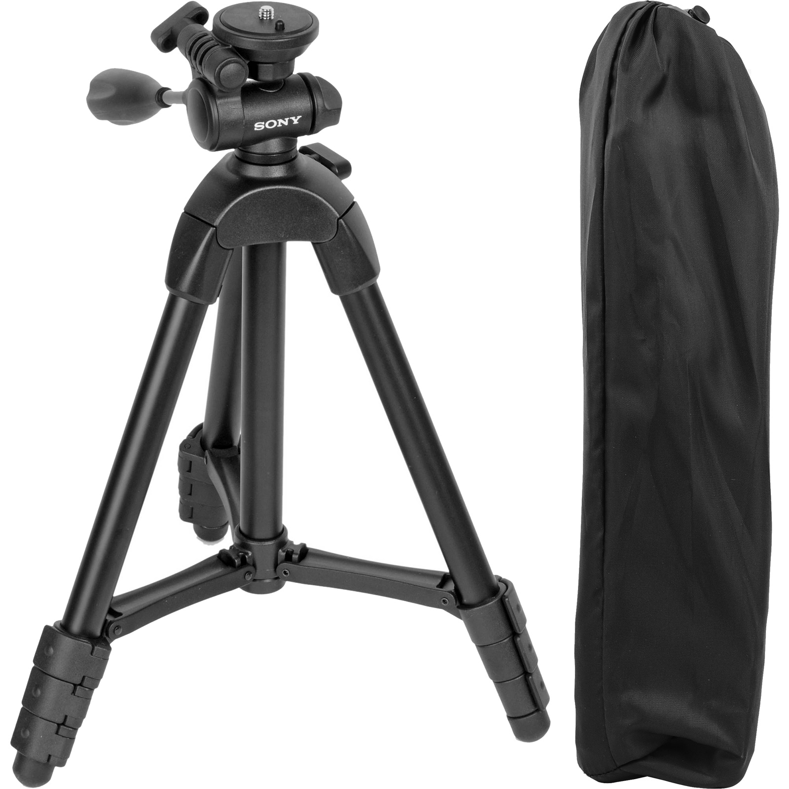 "Sony VCT-R100 40"" Photo/Video Tripod with 3-Way Pan & Tilt Head and Case (Black)"