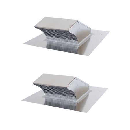 Air King 10-Inch Galvanized Steel Round Professional Hood Roof Wall Cap (2 Pack)