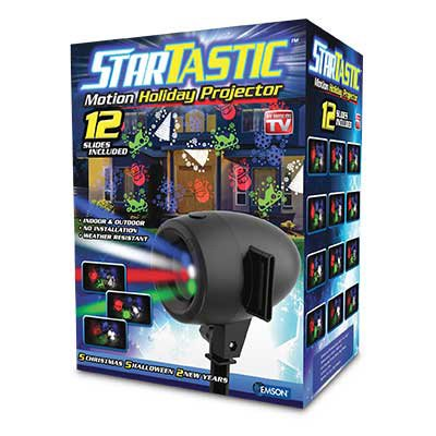 Startastic Holiday Halloween & Christmas Outdoor Movie Slide Projector 12 Modes, As Seen on - Uk Holidays Halloween