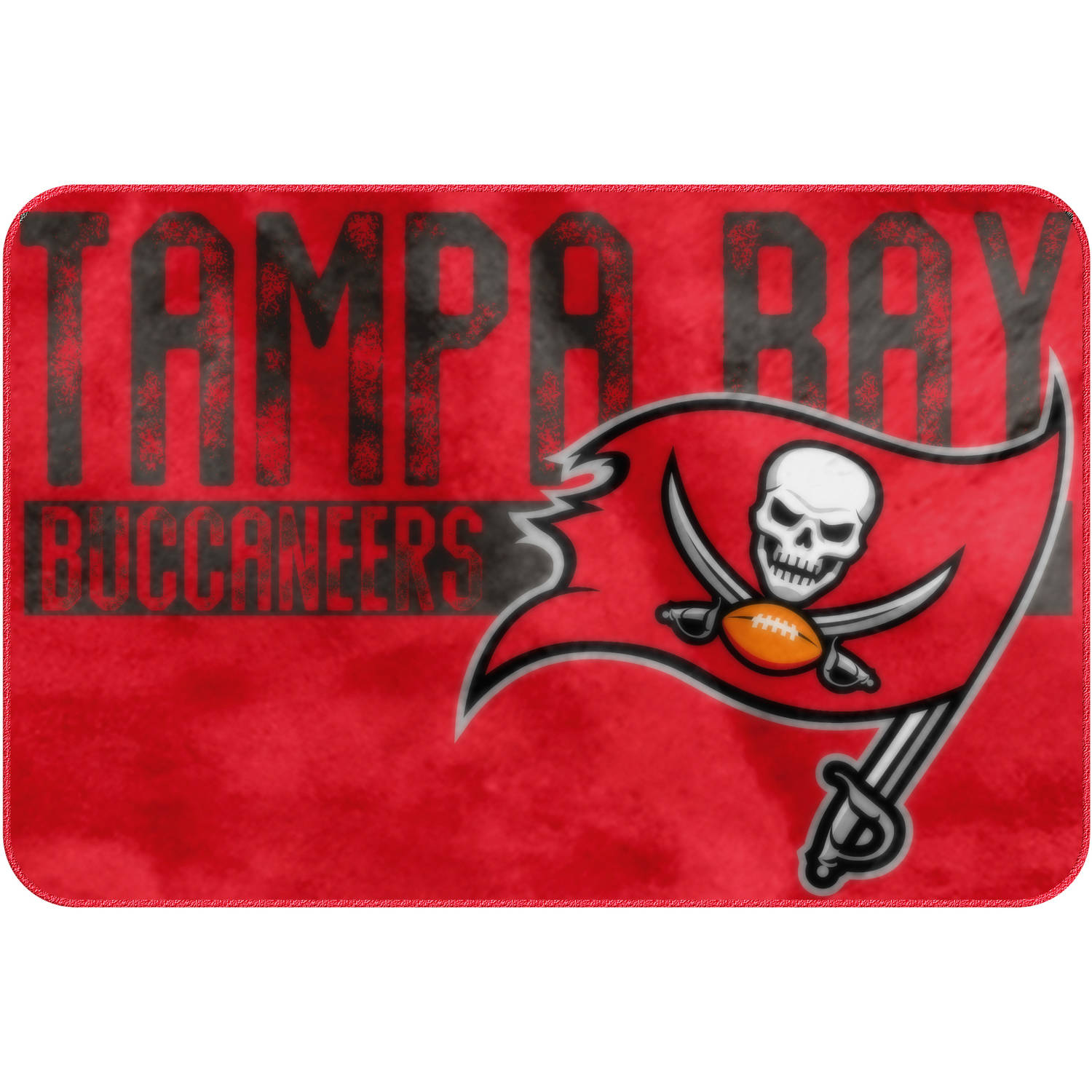 "NFL Tampa Bay Buccaneers ""Worn Out"" Mat, 20"" x 30"""