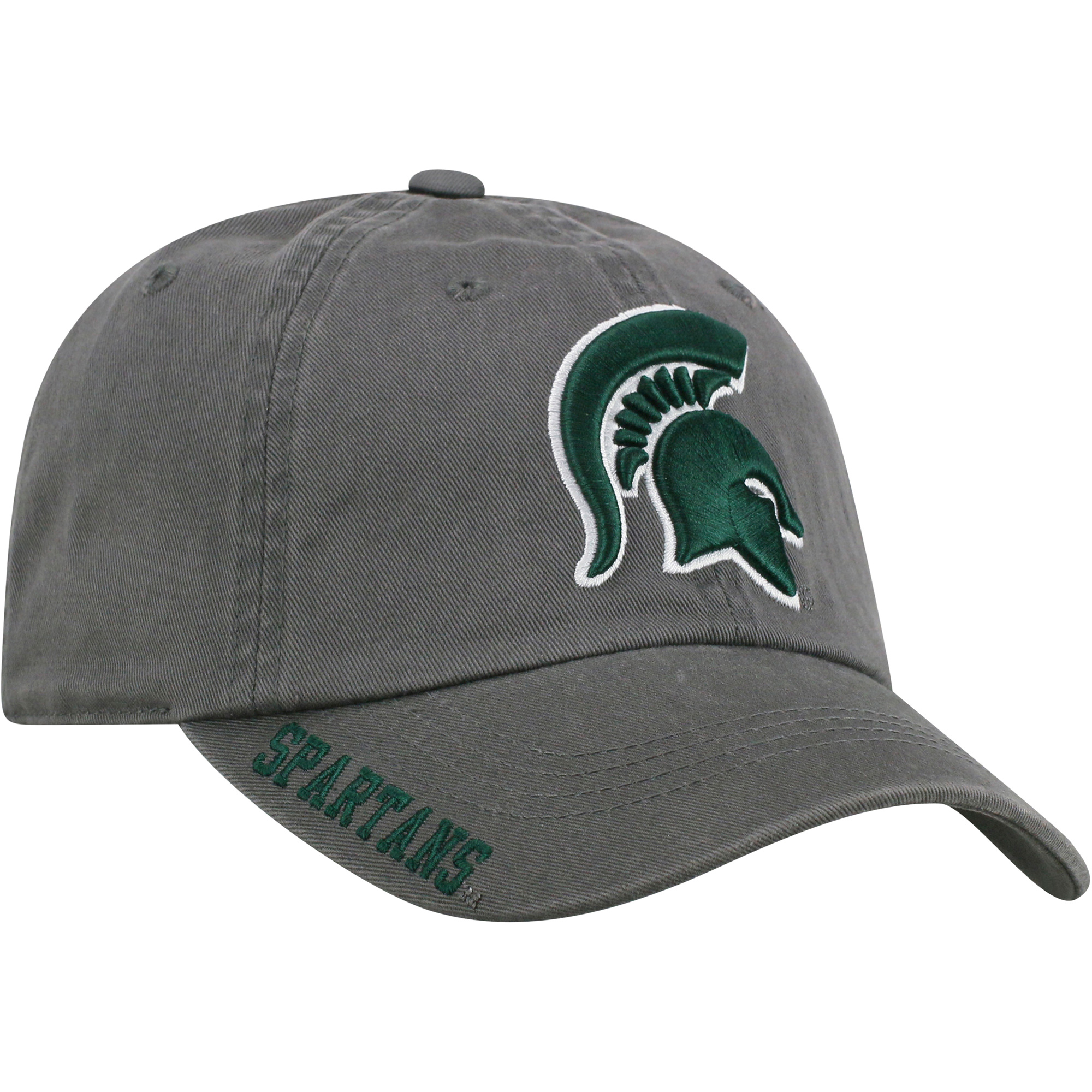 Men's Russell Charcoal Michigan State Spartans Washed Adjustable Hat - OSFA