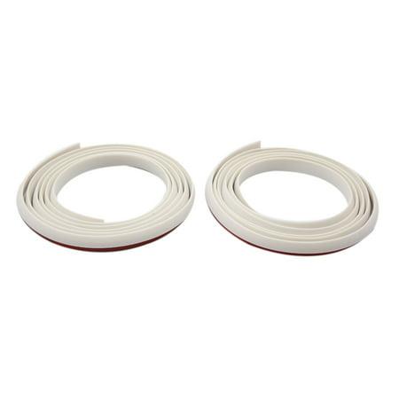 (2pcs White 1.71m Rubber Auto Car Door Edge Guard Mold Trim Soundproof Strip)