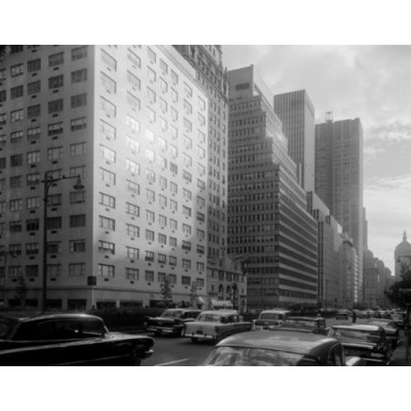57th Street Manhattan - USA New York Manhattan Park Avenue looking South from 57th Street Stretched Canvas -  (18 x 24)