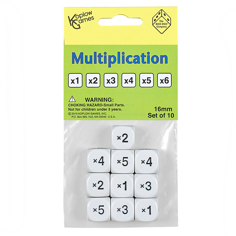 MULTIPLICATION DICE SET OF 10