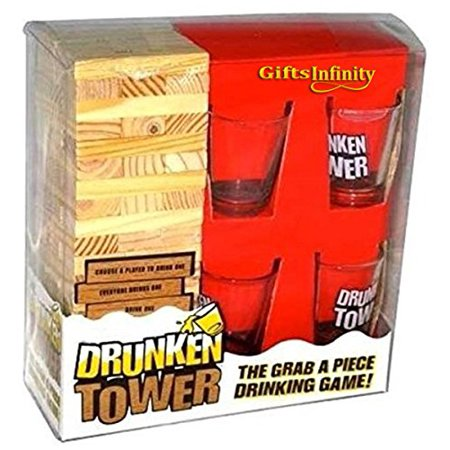 Gifts Infinity® Grab A Piece Drinking Block Game Drunken Tower, Wood](Halloween Drinking Game 2017)