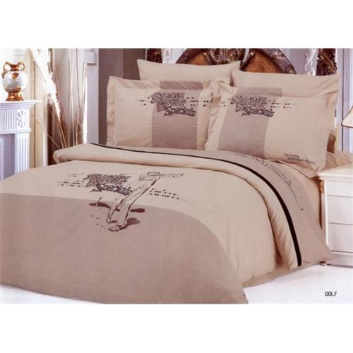 Le Vele LE130Q Full Queen Bed Modern Bedding Sports Duvet Cover Set, Golf