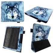Snow Wolf Case for All-New Kindle Oasis 7 Inch (9th Gen, 2017 Release) - Premium Lightweight PU Leather Slim Sleeve Cover with Auto Sleep/Wake for Amazon Kindle Oasis 2017 E-Reader 7 with Stylus