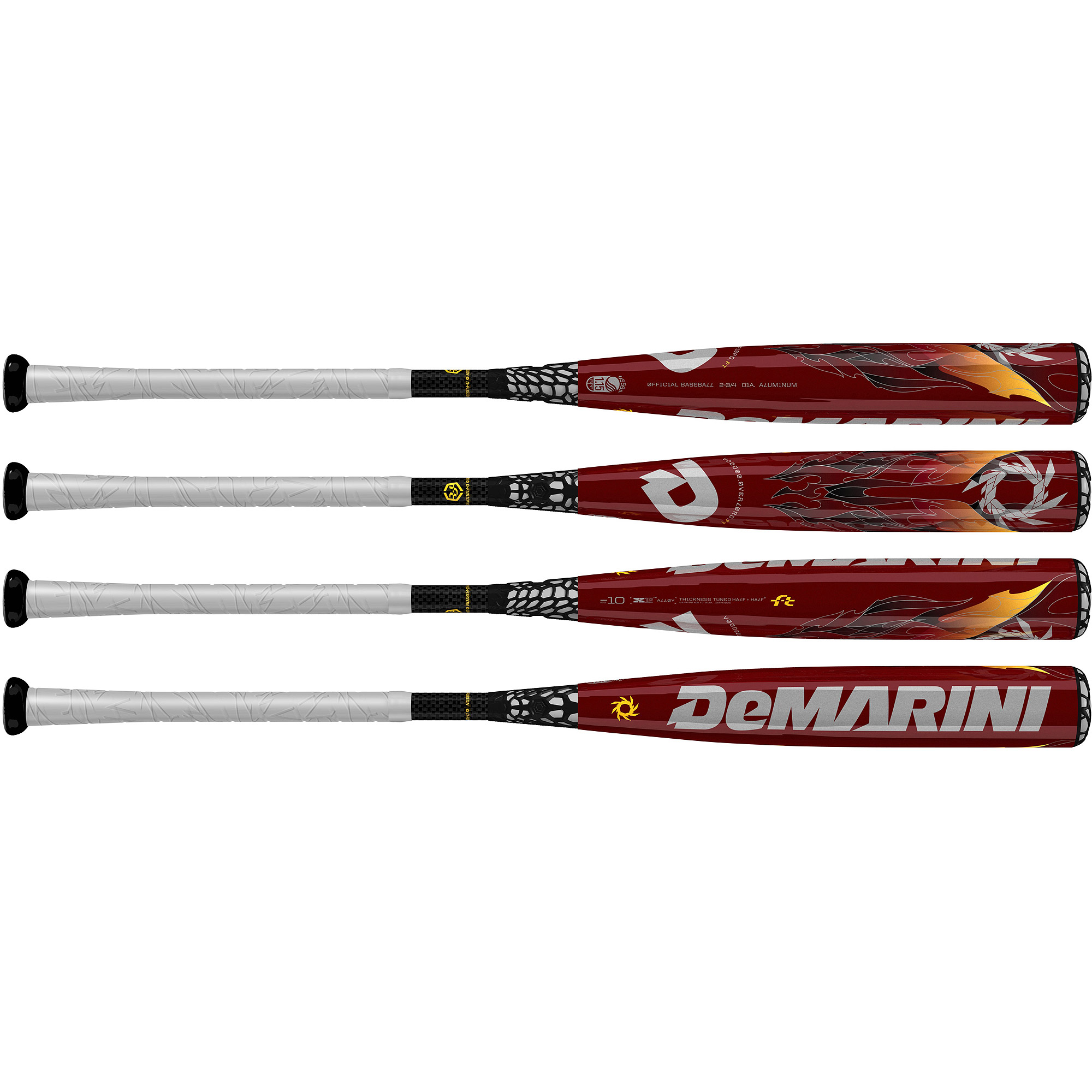 "DeMarini VooDoo Overlord FT Youth Big Barrel (2 3 4"") -10 Baseball Bat by Wilson Sporting Goods"