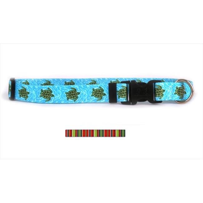 Yellow Dog Design HOLS102M Holiday Stripes Standard Collar - Medium