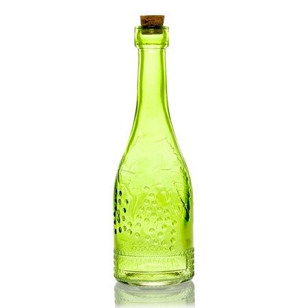 Stella Green Vintage Glass Bottle Glassware Flower Vase