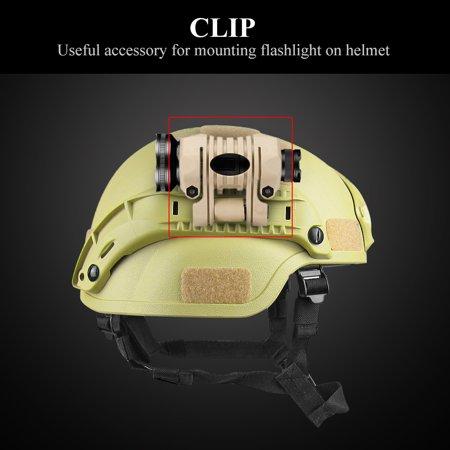 Quick Mount Snow - Flashlight Clip Helmet,HURRISE Plastic Quick Release Flashlight Holder Clamp Clip Mount Accessory for Fast Helmet