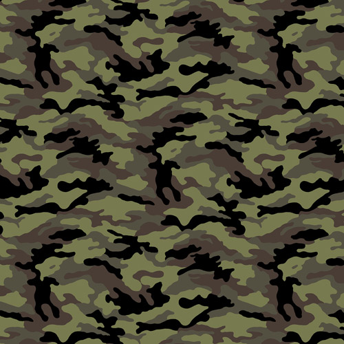 Camouflage Antipill Fleece  Black/olive