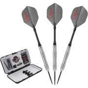 Viper V-Factor Tungsten 23-gram Soft Tip Darts, Tapered Shark Fin Barrel, Gray