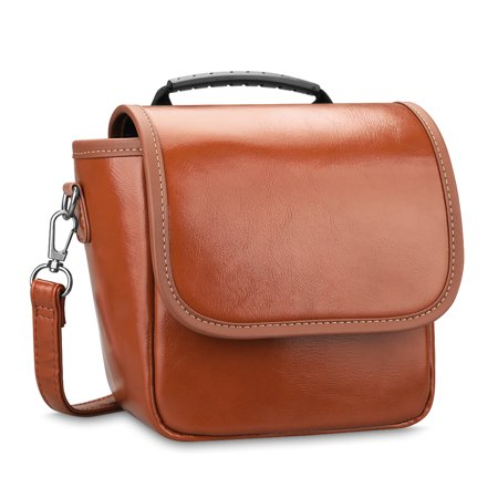 Polaroid Originals 9008 OneStep 2 VF Instant Film Camera Case - Fintie PU Leather Travel Bag Carrying (Brown Leather Camera Case)