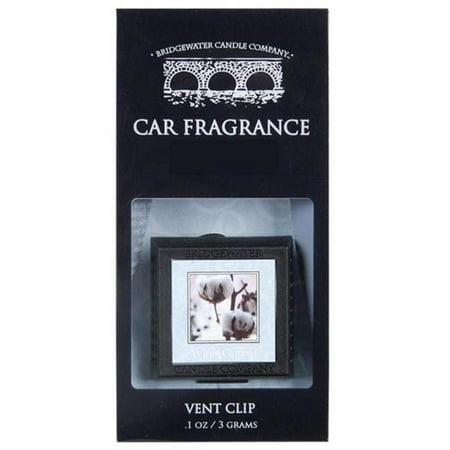 Bridgewater Candle Auto Vent Clip   White Cotton