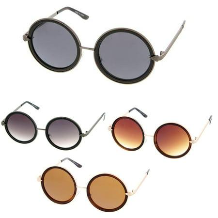 MLC Eyewear Retro Fashion Round Thick Frame Women Sunglasses Model (Round Frames Eyewear India)