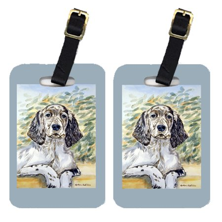 Pair of 2 English Setter Luggage Tags