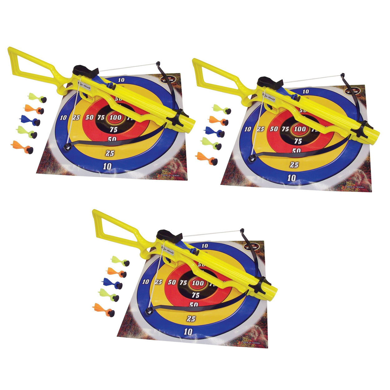 SA Sports Sniper Toy Crossbow #568 3-Pack with 18 Safety Darts and 3 Targets