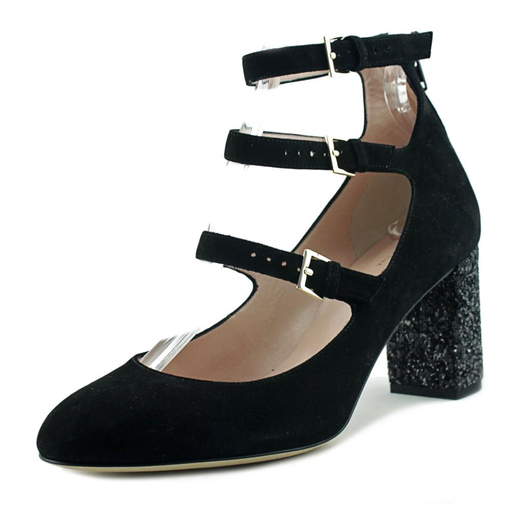 Kate Spade Anie Women Round Toe Suede Black Mary Janes by kate spade