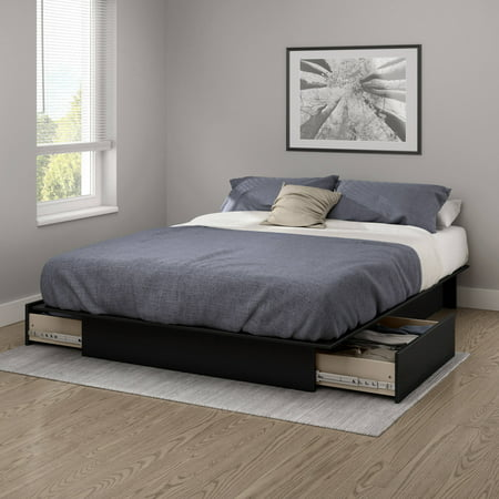 south shore gramercy fullqueen platform bed 5460 with